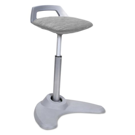 Alera Sit-to-Stand Perch Stool, Select Color (Silver Base)