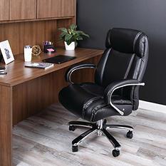 Alera Maxxis Series Big & Tall Leather Office Chair, Black