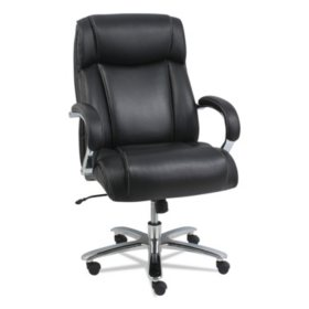Alera Maxxis Series Big and Tall Leather Office Chair, Black