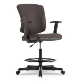"""Alera Everyday Task Stool, 31.38"""" Seat Height, Supports up to 275 lbs. (Black)"""