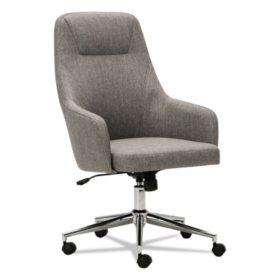 Alera Alera Captain Series High-Back Chair, Gray Tweed