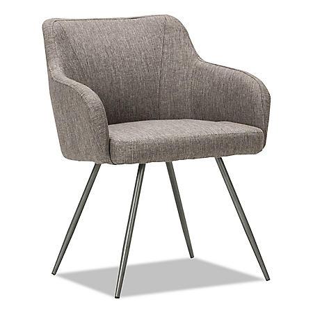 Alera Alera Captain Series Guest Chair, Gray Tweed