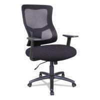 Alera Alera Elusion II Series Mesh Mid-Back Swivel/Tilt Chair, Black