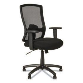 Alera Etros Series High-Back Swivel/Tilt Chair (Black)