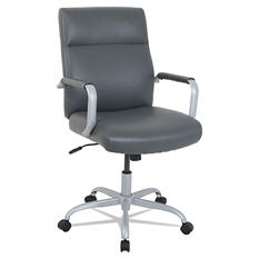 Alera High-Back Leather Office Chair, Supports up to 250 lbs, Choose a Color