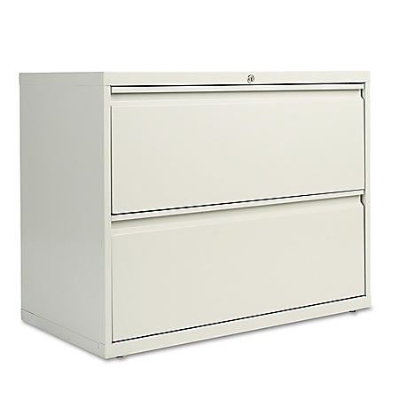 Alera Two-Drawer Lateral File Cabinet, 36w x 18d x 28h, Assorted Colors