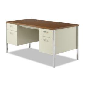 Peachy Alera 60 Double Pedestal Metal Desk Select Color Sams Club Download Free Architecture Designs Scobabritishbridgeorg