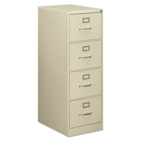 """Alera Four-Drawer Economy Vertical File Cabinet, Legal, 18¼""""W x 25""""D x 52""""H (Assorted Colors)"""