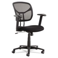OIF Swivel/Tilt Mesh Task Chair with Adjustable Arms, Supports up to 250 lbs. (Black)