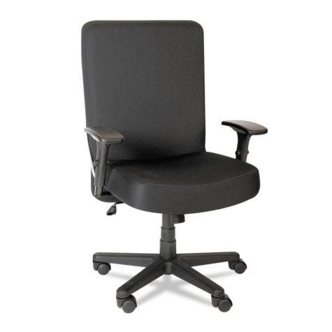 Alera Plus XL Series Big & Tall High-Back Task Chair, Black