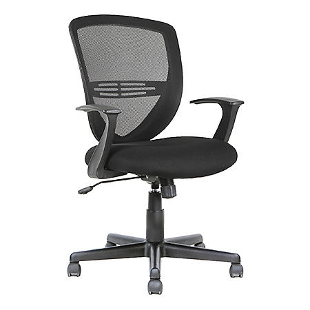 OIF Swivel/Tilt Mesh Mid-Back Task Chair, Supports up to 250 lbs. (Black)