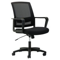 OIF Mesh Mid-Back Chair, Supports up to 225 lbs. (Black)