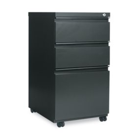 Alera 3-Drawer Metal Pedestal File, Select Color