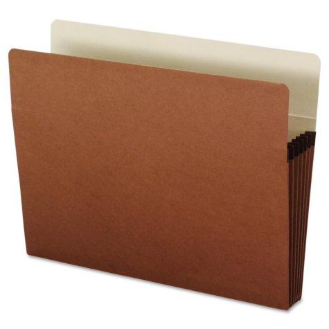 "Office Impressions 5 1/4"" Straight Expansion File Pockets, Redrope (Letter, 10 ct.)"