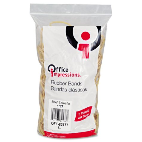Office Impressions - Rubber Bands, #117, 1lb - 210 Count