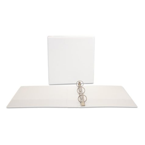 """Office Impressions View Binder, Round Ring, 1.5"""" - White"""