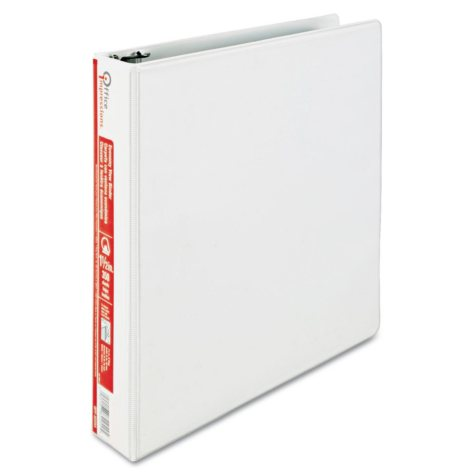 """Office Impressions - Economy View Binder, D-Ring, 1-1/2"""" - White"""