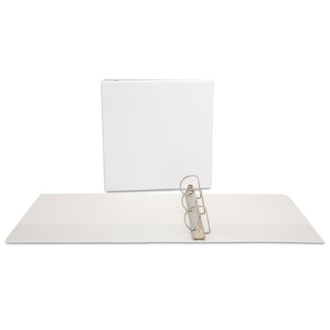 """Office Impressions - Economy View Binder, D-Ring, 2"""" - White"""