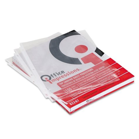 Office Impressions - Economy Sheet Protectors, Clear - 100 Count