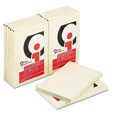 Office Impressions - Yellow Self-Stick Notes - 4 X 6 - Lined - 12 100-Sheet Pads/Pack
