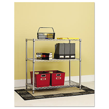 Alera Residential 3-Shelf Wire Shelving - Silver (36W x 14D x 36H)