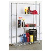 Alera Residential 4-Shelf Wire Shelving - Silver (36W x 14D x 54H)