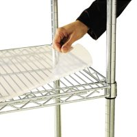 """Alera 48"""" x 18"""" Shelf Liners for Wire Shelving Units - Clear (4-pack)"""