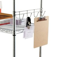 """Alera 18"""" Hook Bars For Wire Shelving, Silver - 2 pack"""
