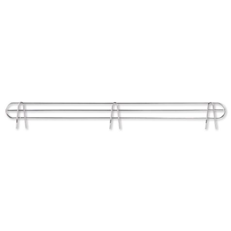 "Alera 48"" Wire Shelving Back Support, Silver - 2 pack"