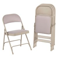Alera Steel Fabric Folding Chair with Two-Brace Support, Select Color - 4 pack