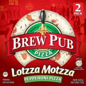 Brew Pub Lotzza Motzza Pepperoni Pizza, Frozen (2 pk.)