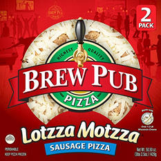 Brew Pub Lotzza Motzza Sausage Pizza (25.25 oz. ea., 2 pk.)