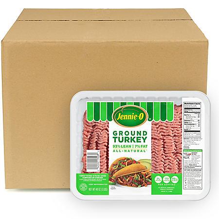 Jennie-O Lean Ground Turkey, Bulk Wholesale Case (2.5 lb. trays, 20 lb. total)