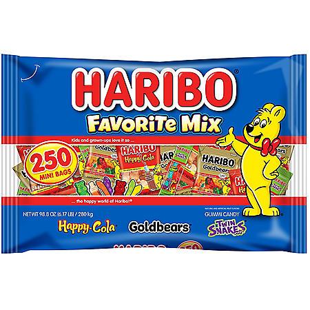 Haribo Favorite Mix Gummy Candy (250 ct.)