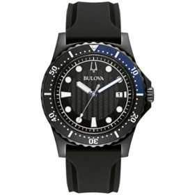 332268bd84b3 Bulova Men s Black Strap Marine Star Watch