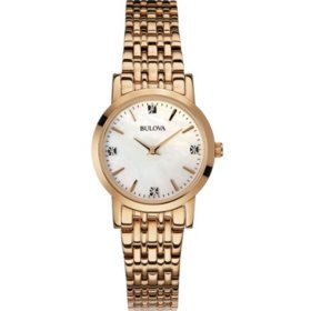 Bulova Women's Diamond Gallery Gold Stainless-Steel Quartz Watch