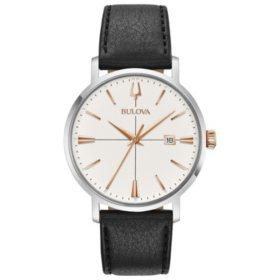 Bulova Men's Aerojet Leather Watch