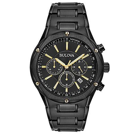 Bulova Men's Black IP Chronograph Watch