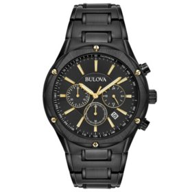 a5ba8cf67cf0 Bulova Men s Black IP Chronograph Watch