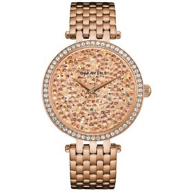 Caravelle Women's Rose Gold Crystal Dial Watch