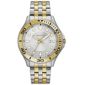 Caravelle Men's Two-Tone Stainless Steel Dress Watch