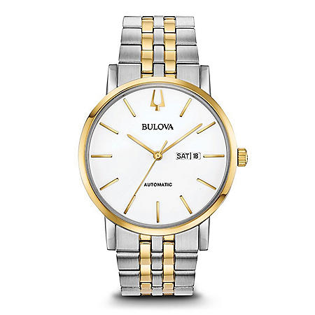 Bulova Men's Classic Two Tone Stainless Steel Automatic Watch
