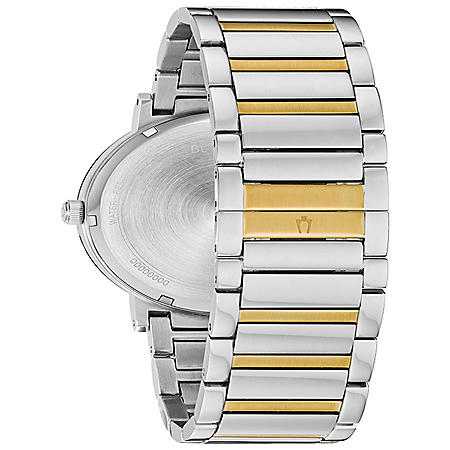 Bulova Men's Modern Diamond Accent Two Tone Stainless Steel Watch