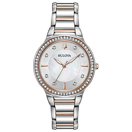 Bulova Women's Two-Tone Crystal Watch
