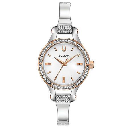 Bulova Women's Crystal Bangle Watch