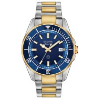 Bulova Mens 43mm Marine Star Stainless Steel Watch