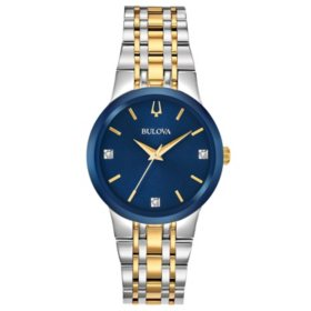 Bulova Women's Two-Tone Diamond Dial Watch