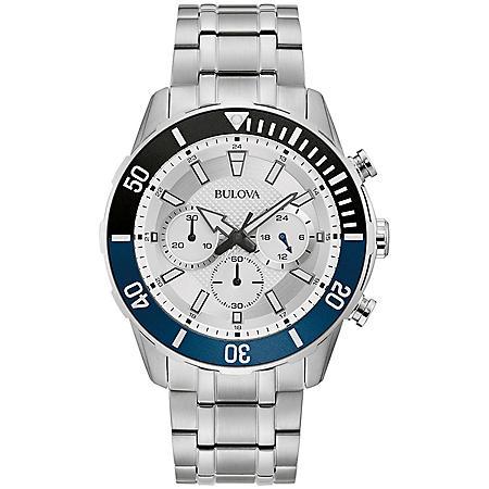 Bulova Men's Stainless Steel Chronograph Watch
