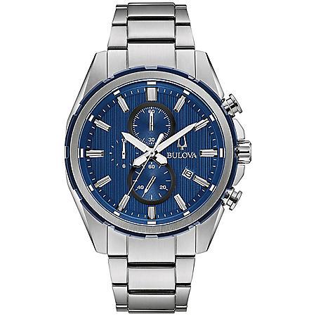 Bulova Men's Blue Dial Chronograph Watch