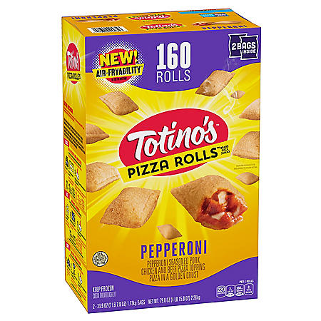 Totino's Pepperoni Pizza Rolls, Frozen (160 rolls)